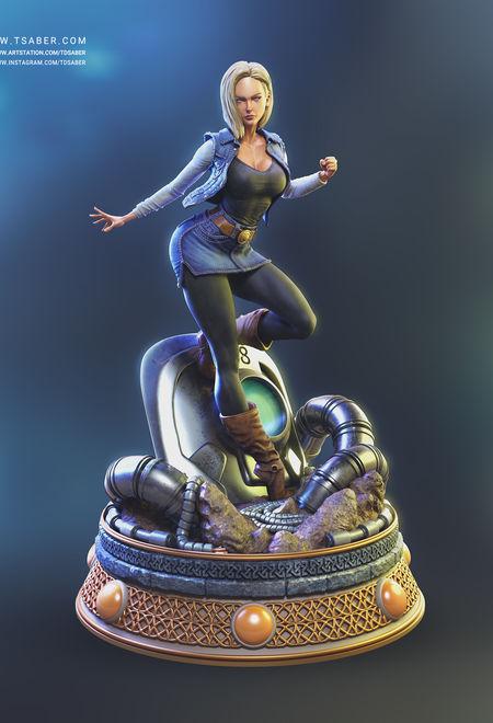 Tsaber android 18 statue dr e1d1bf3b v5js
