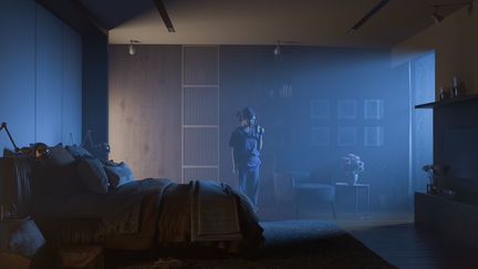 Foggy bedroom