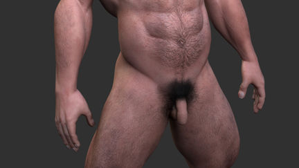 A male figure [nudity]