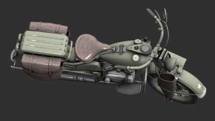 WWII US WLA motorcycle