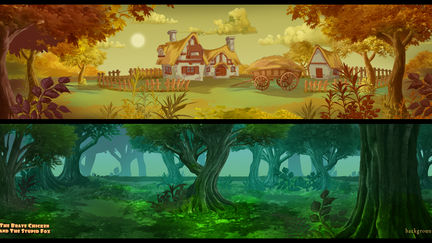 The Brave Chicken and The Stupid Fox - Backgrounds