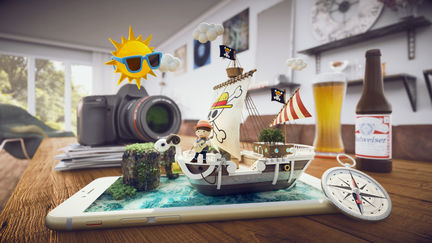 3d illustration for onepiece goingmerry ship2