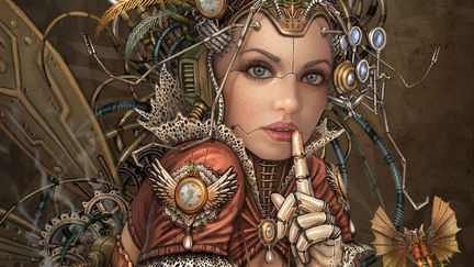 Silence Please - Steampunk Fairy