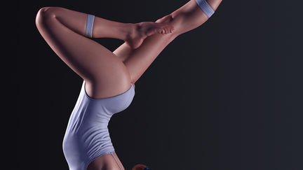 Girl elbow stand