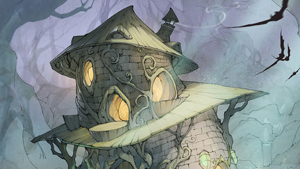 Witch house in the woods