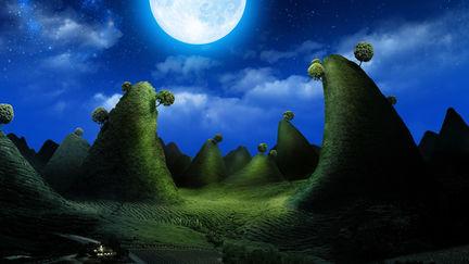 Moonlight night in Dreamland