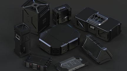 Concept sci-fi Ammunition boxes