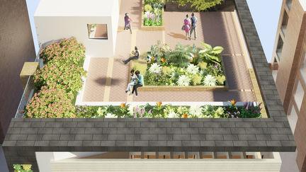 Geen 122 Apartment Building Rooftop