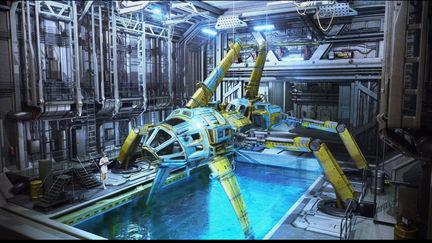 US-01 in hangar