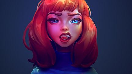 Create a stylized character portrait
