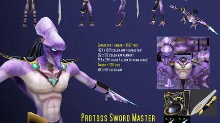 Protoss Sword Master - 2006 Blizzard art contest entry