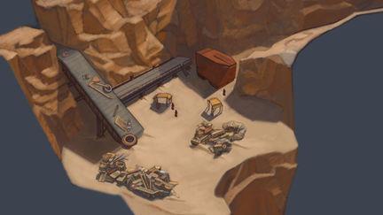 Jawa Camp - game level  concept
