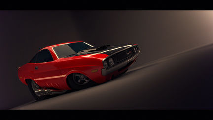 Dodge Challenger (cartoon style)