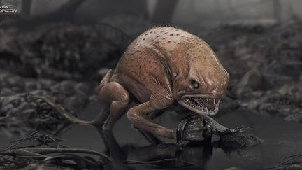 Swamp Creature: tadpole hunter - Concept Design