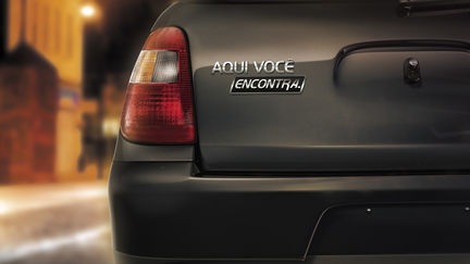 Generic Black Car Rear