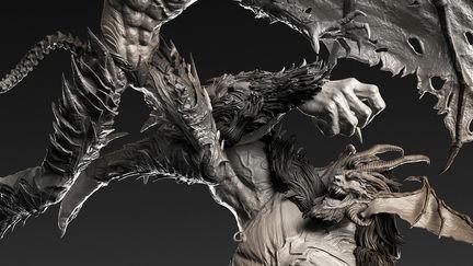 -Amon Vs Devilman- Diorama