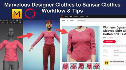 Marvelous Designer 7 to Sansar Video Tutorials