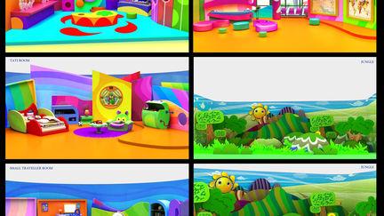DECORATION DESIGN FOR KIDS PROGRAM IN THE TV