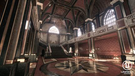 UE4 Throne room's hall