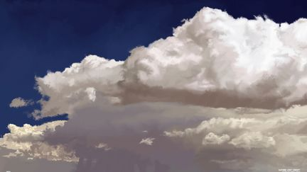 Clouds with Depth - Digital Brush Painting!