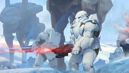 Battle on planet Hoth