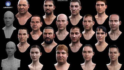 Some heads from Assassin's Creed 2