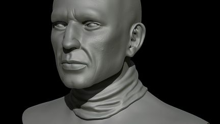 Zbrush male character bust