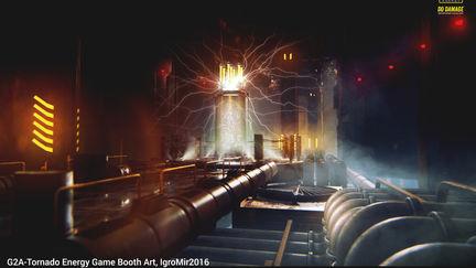 G2A-Tornado Energy Game Booth Art