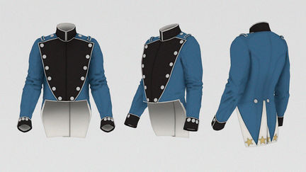 Guards parade coatee and vest.