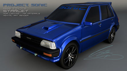 Project Sonic 1989 Toyota Starlet colour