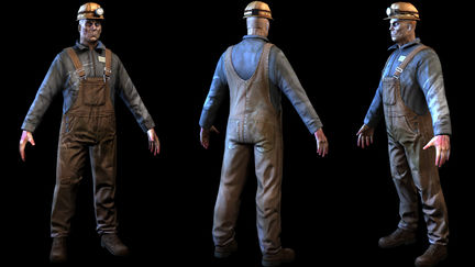 Worker low-poly