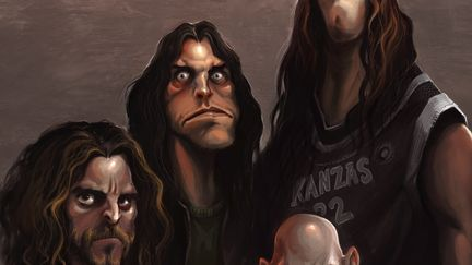 TOOL-( A caricature from Tool band)