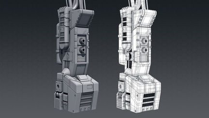 High-poly gas pump