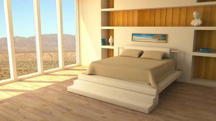 Bedroom render with Maya / Mental Ray