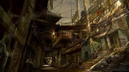 Walking down the dark alley