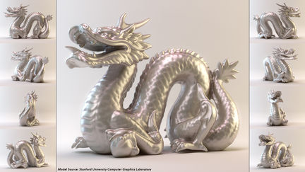 Stanford Dragon material study