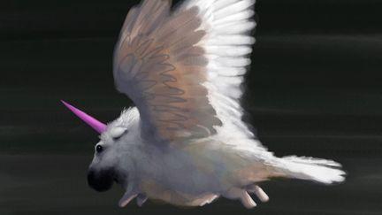 Flying Baby Unicorn