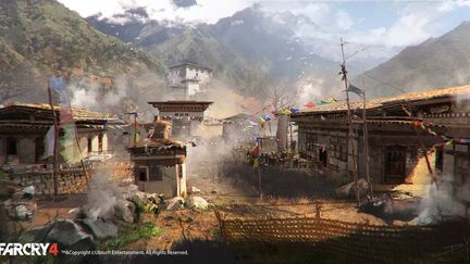 FarCry4 Concept Art - inside the village