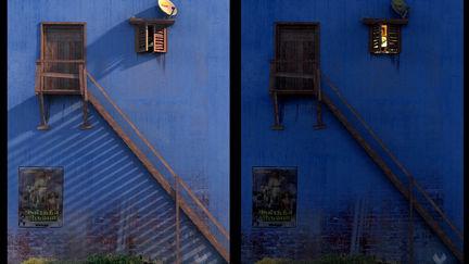 Blue house -  Outdoor lighting