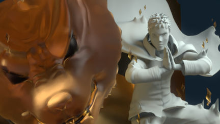 Naruto and Kurama Fanart Sculpt