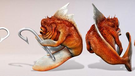 Evil Goldfish - model sheet