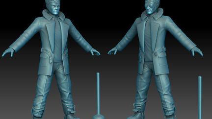Kamodo Steve SculptWIP