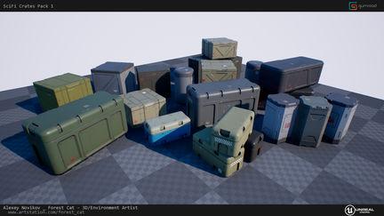 [UE4] SciFi Crates Pack 1