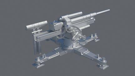 Flak 88 High Poly Model