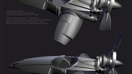 aeroSki - GroBoto metaSolid Model to Cinema4D