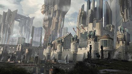 Medieval scifi castle