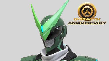 Overwatch Sentai Genji high poly