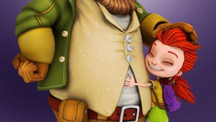 Oli & spike, game characters