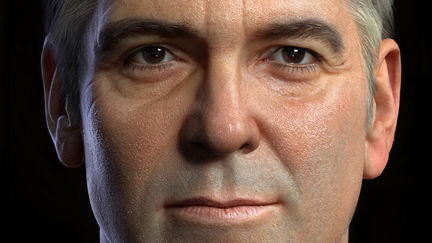 3D portrait of George Clooney