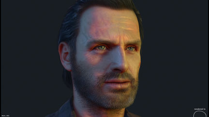 Real-time Rick Grimes model done for Fallout New Vegas mod